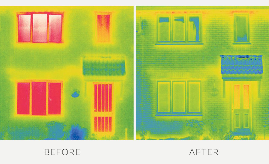 Energy Efficient Windows Before After